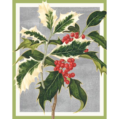 holly christmas card box a size 16 in 88001 - Caspari Christmas Cards