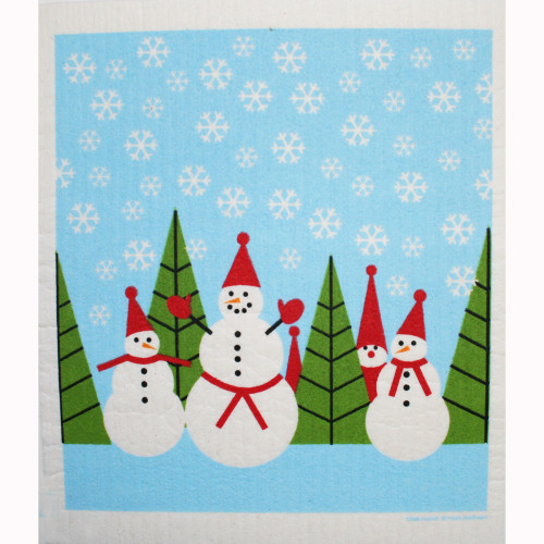 Swedish Dishcloth - Snowmen and Tomte (219.92)