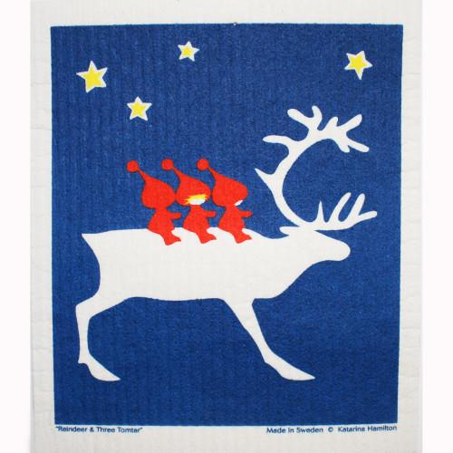 Swedish Dishcloth - Reindeer and Tomte (219.80)