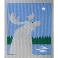 Swedish Dishcloth - Moose At The Lake (219.83)
