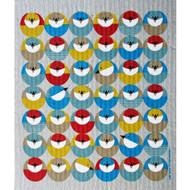 Swedish Dishcloth - Circle Birds (219.9O)