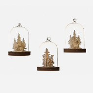 "Nordic Dome Glass Ornaments - 3"" - Set of 6 (EM1349)"
