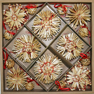 Straw Ornaments  - Boxed Collection - 56 pc.