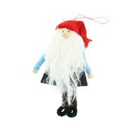"""Nordic Santa Ornament - Felt - 5"""" (H1-2718)"""