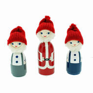"""Santa And His Little Helpers  - 4"""" - Gift Boxed Set"""