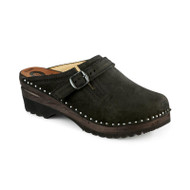 Donatello Clogs in Black Suede (5063-121)