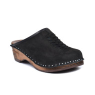 Wright Clogs in Black Suede - Original Sole Collection (166-1111)