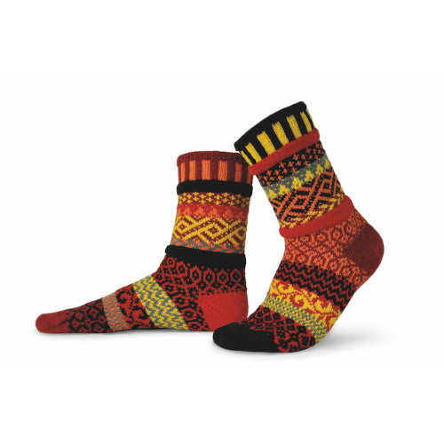 Solmate Socks - Adult Crew - Fire (FIRE)