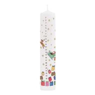 Advent Pillar Candle - Santa's Sleigh - 10 inches high (CAP4)