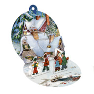 """Pop-Up Paper Bauble Gift Tag Decoration w/envelope - Kids Band - 2.75"""" (94415B)"""