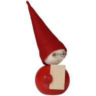 "Tonttu Viisas Christmas Elf with Glasses and Notebook - 3.5"" (B6829)"