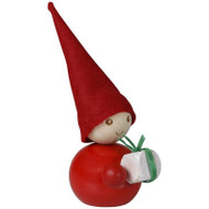 "Tonttu Lahja Christmas Elf with Gift - 3.5"" (B6830)"