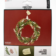 Traditional Christmas Wreath - Paper Kit (36115)