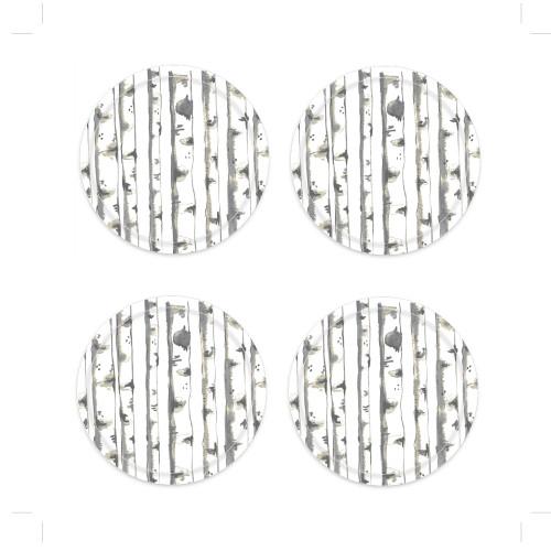 Birches Coaster Set - 4 pc's (111802)