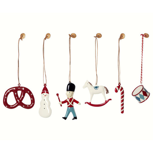 Christmas Ornament Collection - 6 Metal in a Box (14-6572)