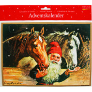 "Advent Calendar - Jenny Nystrom - Tomte with Horses - 9.75"" x 13.75"" (ACB4)"