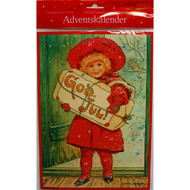 "Advent Calendar - Jenny Nystrom - God Jul Girl - 9.75"" x 13.75"" (ACB5)"