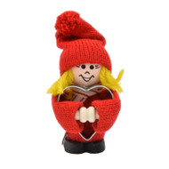 "Tomte Girl Santa with Heart Cookie Cutter - 3.5"" (21820)"