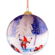 "Rolf Lidberg Christmas Ball Ornament - Skier - 3.5"" (3034)"