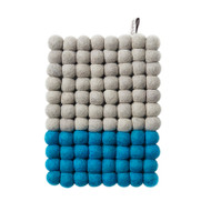 Wool Trivet/Pot Mat - Turquoise Dip (1196)