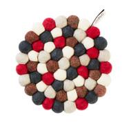 Wool Trivet/Pot Mat - Bubbleberry (1244)