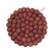Wool Trivet/Pot Mat - Berry (1503)