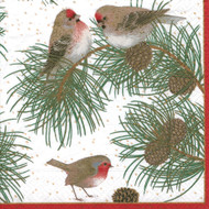 Woodland Birds Paper Luncheon Napkins (12090L)