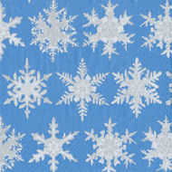 Falling Snow Paper Luncheon Napkins (12692L)