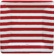 Red and White Stripe Salad/Dessert Plates (7921SP)