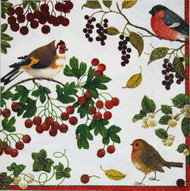 Winter Birds (Domherre) Luncheon Napkins (9390L)