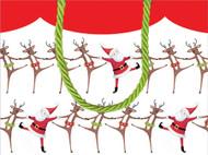 Caspari Gift Bag - Christmas Can Can (96001B1)
