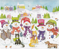 "Caspari Advent Calendar Card - Snowmen - 5""x7"" (ADV223C)"