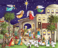"Caspari Advent Calendar - Nativity Christmas - 5""x7"" (ADV230C)"