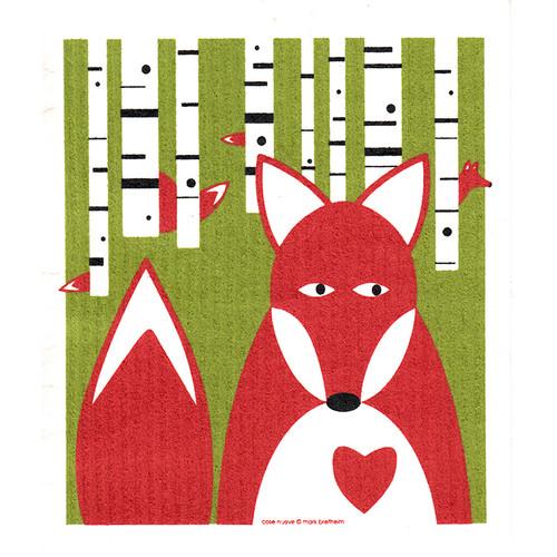 Swedish Dishcloth - Fox in Birches (218.62)