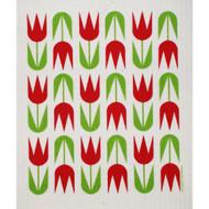 Swedish Dishcloth - Tulips Red (207R)