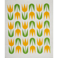 Swedish Dishcloth - Yellow Tulips (207Y)