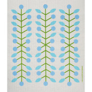 Swedish Dishcloth - Berry Branch Blue (218.53B)
