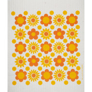 Swedish Dishcloth - Flower Power Yellow (218.54Y)