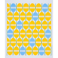 Swedish Dishcloth - Easter Eggs Mosaic Yellow (218.56Y)