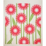 Swedish Dishcloth - Daisies - Pink (218.89P)