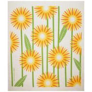 Swedish Dishcloth - Daisies - Yellow (218.89Y)