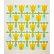 Swedish Dishcloth - Tulip Blossoms - Yellow (218.92Y)