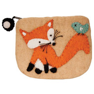 Fox Felt Coin Purse (22117F)