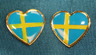 Sweden Flag Earrings (Posts) - Enamel (100EPS)