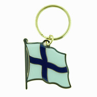 Finland Flag Key Ring (103FK)