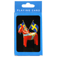 Dala Horse & Sweden Flag Deck of Playing Cards (55115)