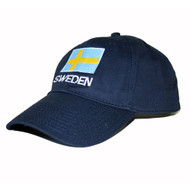 Sweden Flag Embroidered Cap/Golf Hat (GC-S)