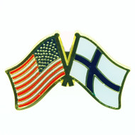 USA & Finland Flag Lapel Pin - Tie Tack (LP-UF)