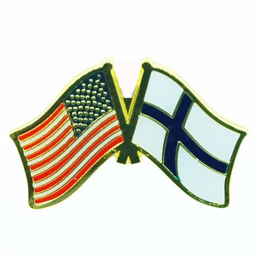 USA & Finland Flag Lapel Pin - Tie Tack (LP-UF)