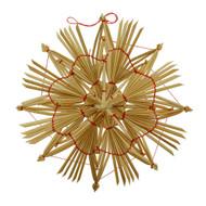 "Straw Star Ornament - 7"" (H1-101)"